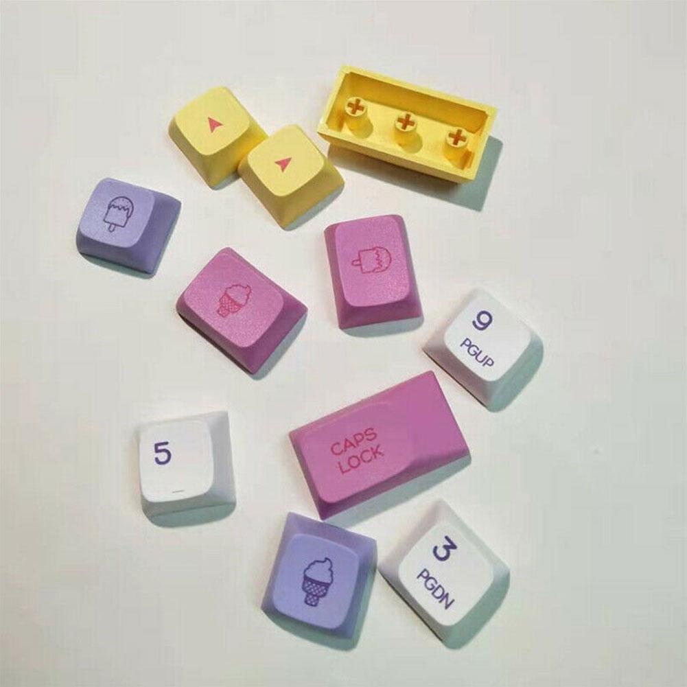 لوحة المفاتيح الميكانيكية الآيس كريم Keycap XDA الحب للغاية Keycap التسامي PBT N9O0