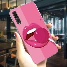 Funda del teléfono para Huawei P Smart Z Sexy labios beso labios cubierta P9 Lite/Mini/2017 P10 20 30 Lite Pro P Smart Z Mate 10 20 Lit