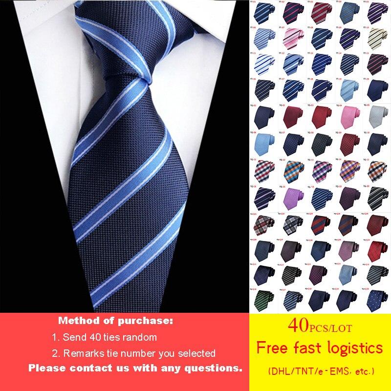 ربطة عنق للرجال 8 سنتيمتر ، 40 قطعة ، 60 نمطًا ، ربطة عنق حريرية فاخرة ، عمل ، شحن مجاني مع DHL/TNT ، 100%