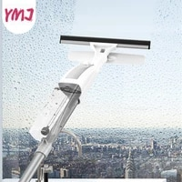 double sided glass cleaning brush with water spray window cleaner aluminum long handle wiper and cloth combo silicone brushes