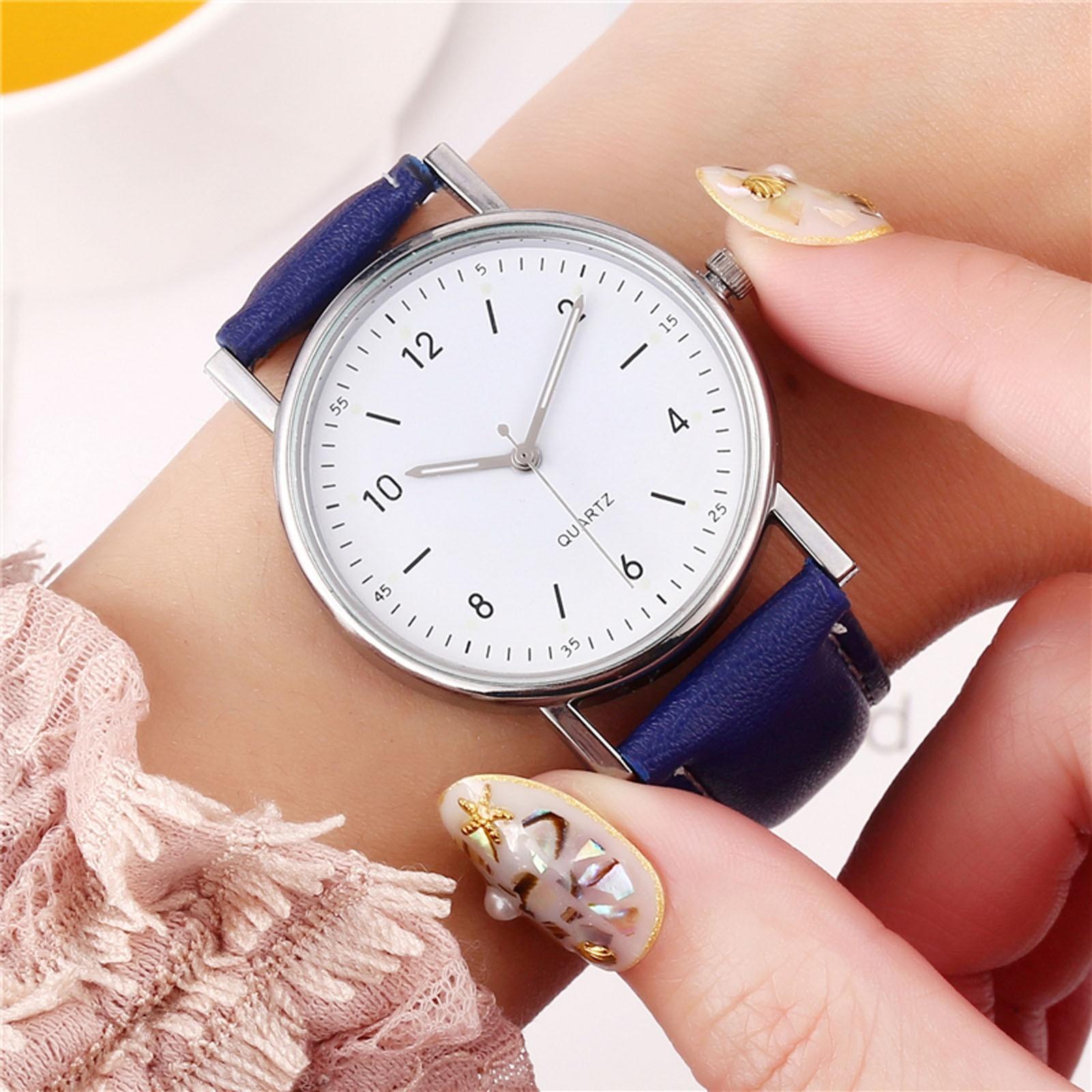 Top Brand ladies watch free shipping High-End Luminous Watch Ladies Quartz Leather strap Watches женские часы недорого F5