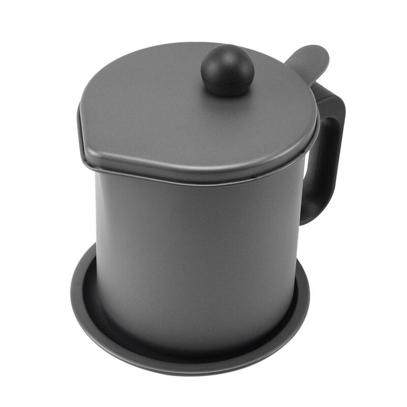 مصفاة 1.7L إناء زيت مرشح زيت القلي حاوية النفط الشحوم يمكن مع مناسبة لتخزين زيت القلي