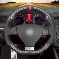 diy anti slip wear resistant steering wheel cover for volkswagen golf gti r32 scirocco tiguanr line car interior decoration