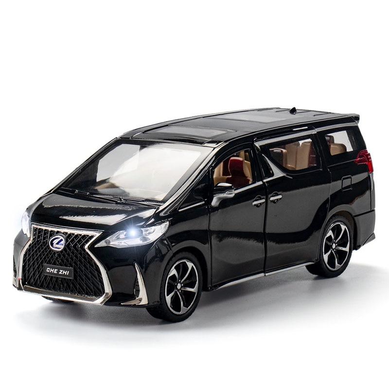 1:24 литая модель автомобиля, коллекция, сплав, автомобильная игрушка, колесо автомобиля, моделирование, модель LM300H MPV, звуковой светильник