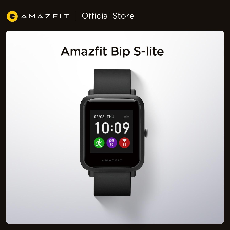Amazfit-ساعة متصلة Bip S Lite لنظامي Android و ios ، سوار إلكتروني ، شاشة ملونة ، مقاومة للماء حتى 5atm ، شاشة 1.28 بوصة ، للسباحة