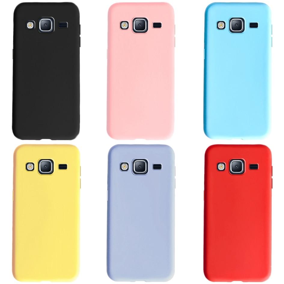 Soft TPU Case For Samsung J 3 J3 2016 Case Silicone Cover For Samsung Galaxy J3 2016 Case Fundas J320 SM-J320F Candy Color Cover