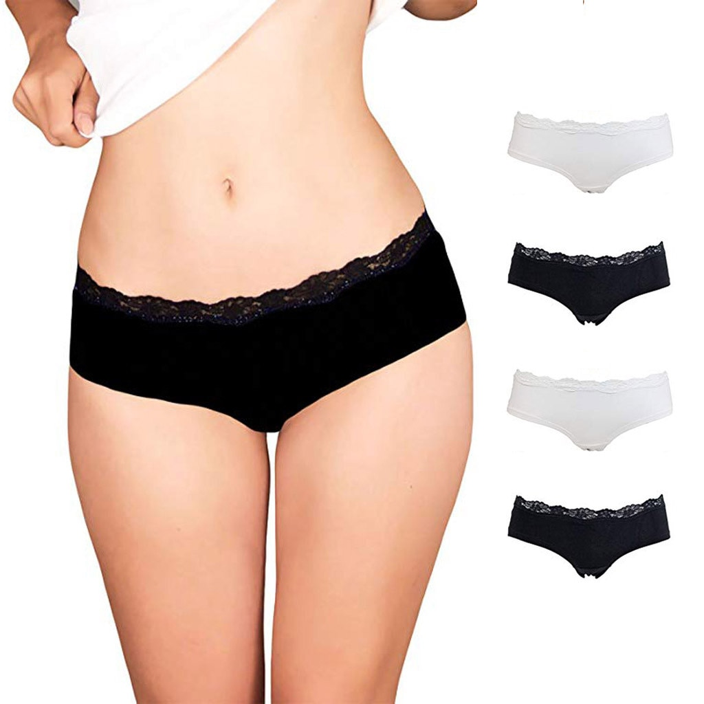 Women Lace Lingerie Underwear Hipster Panties Cotton Low-Rise knickers Briefs Panties Underwear Womens briefs Mujer Panties