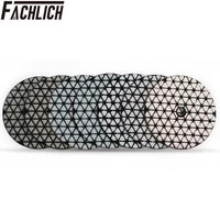 fachlich 7pcspk dry diamond polishing pads diamond flexible sanding disk for stone granite and marble diameter 100mm4inch