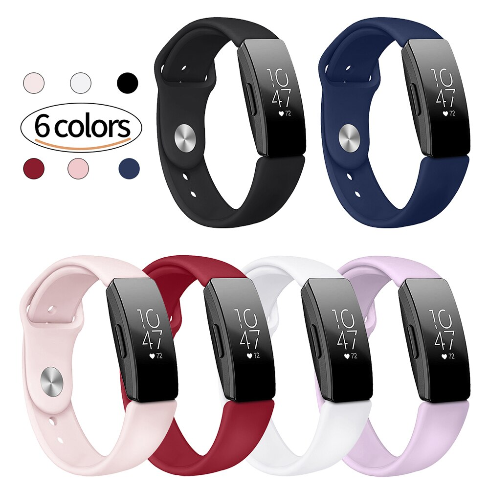 Para Fitbit Inspire HR correa de muñeca pulsera de silicona deportiva correa pulseira Inspire correa de reloj inteligente accesorios de reloj