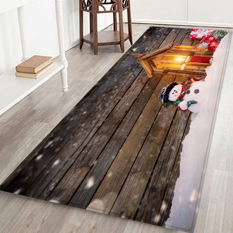 Durable Navidad área temática alfombra suave franela antideslizante alfombra para la cocina Living comedor dormitorio decoración de dormitorio 60X180 CM
