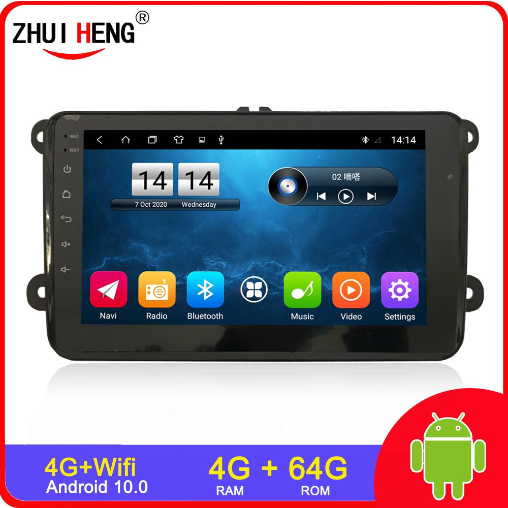 2 din Android 9.1 Car Radio GPS Player For VW/Volkswagen/Golf 5/Passat/b7/b6/Skoda/Seat/Octavia/Polo/Tiguan 1 din car radio