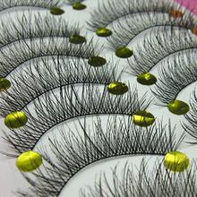 Hot Beautiful Popfeel 10 Pairs Makeup Beauty False Eyelashes Extension Long Thick Cross Eye Lashes B