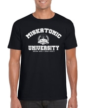 Футболка Miskatonic университетский Cthulhu loveccraft Inspired Book S-2Xl, новая крутая футболка
