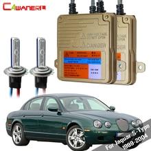 Cawanerl 55W H7 Auto lumière HID xénon Kit AC aucune erreur Ballast ampoule voiture lampe phare feux de croisement pour Jaguar s-type 1999-2004