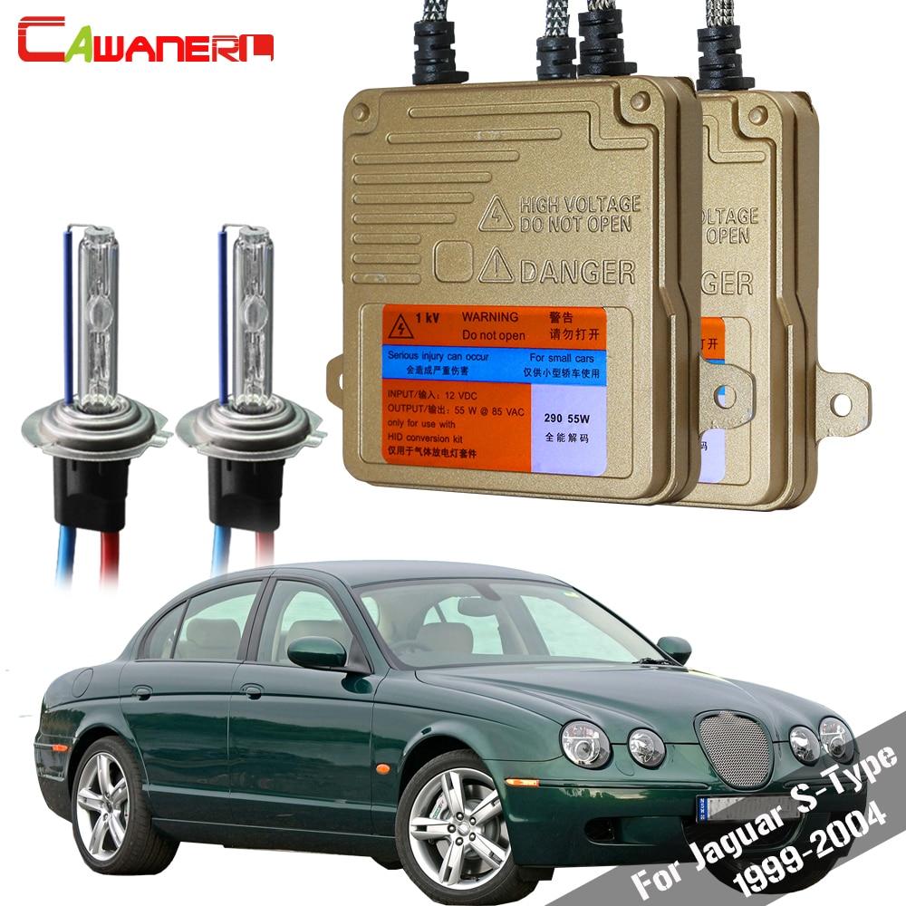 Cawanerl, 55W, H7, Kit de luz de coche HID Xenon, AC sin Error, balastro bombilla, faro de coche, haz bajo para Jaguar tipo S 1999-2004
