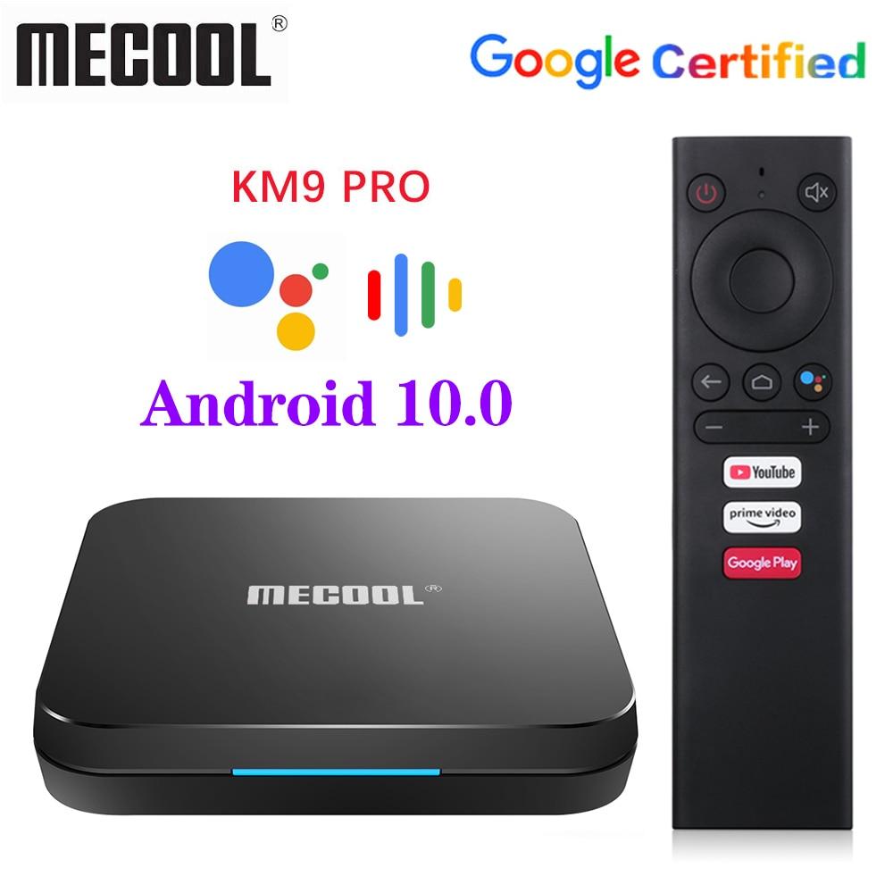 MECOOL KM9 Pro Google Certified Androidtv Android10.0 4GB 32GB Amlogic S905X2 9.0 KM3 ATV 4GB 64GB 4