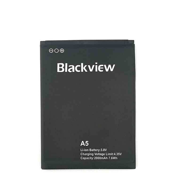 100% Original 2000mAh A5 batería para Blackview A5 teléfono móvil en Stock última producción batería de alta calidad + seguimiento número