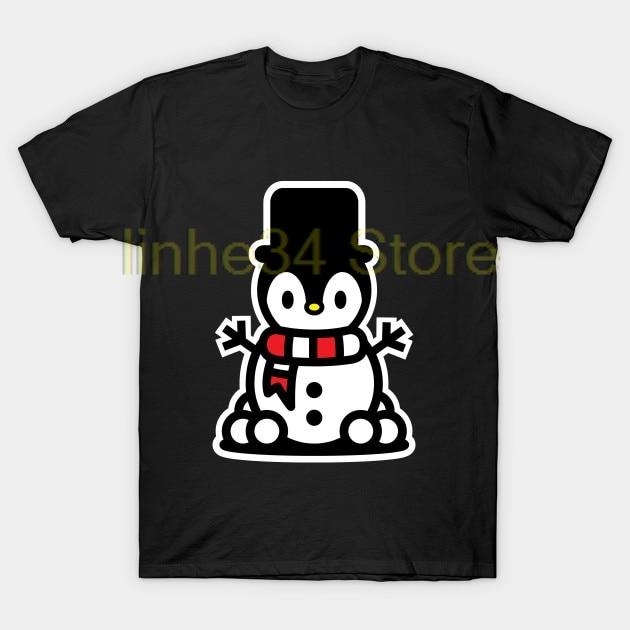 2018 nueva camiseta de Navidad pingüino muñeco de nieve Navidad bambuu marca vacaciones camiseta