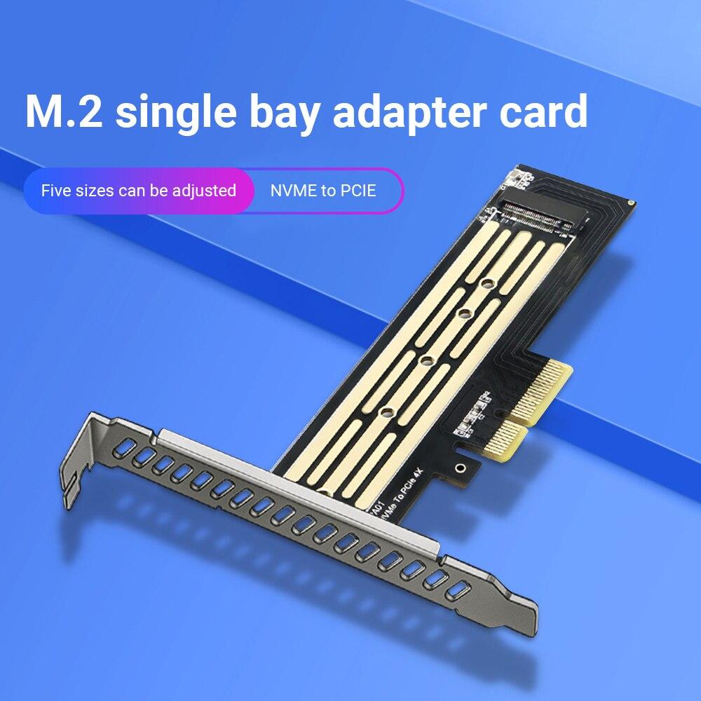 بطاقة مهايئ جديدة M.2 من طراز M.2 NVME to PCI-E X4 GEN3 بطاقة مهايئ محرك قرص صلب SSD بطاقة توسيع اللوحة الأم للفتحة PCI-E 4x 8x 16x