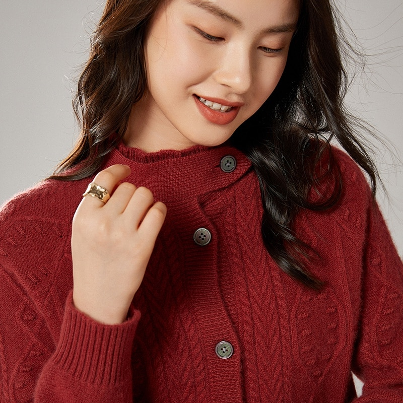 adohon 2021 Cardigans for woman summer sweaters knitted jumper High Quality Female knitwear Half high collar cool comfortable enlarge