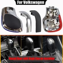 Matt Silver Automatic Car Gear Shift Knob DSG Cover Cap RED/Blue For Volkswagen Golf 6 7 R GTI Passat B7 CC R20 Jetta MK6 GLI