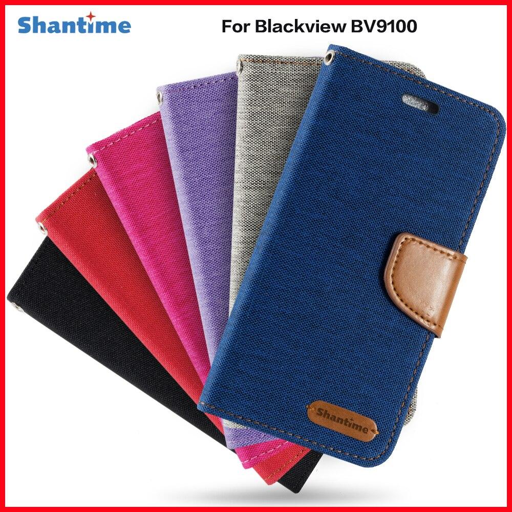 Étui à rabat en cuir PU pour Blackview BV9100 étui daffaires pour Blackview BV9100 porte-carte Silicone cadre Photo étui portefeuille