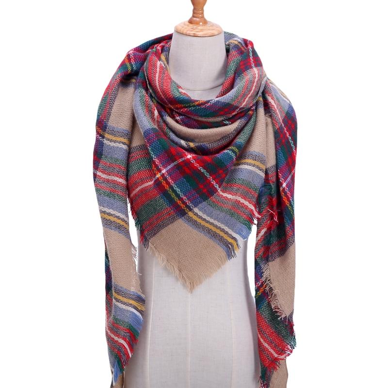 Плетен пролетен зимен дамски шал, - Аксесоари за облекла - Снимка 3
