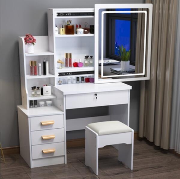 Туалетный столик для спальни, современный минималистичный красный туалетный столик, многофункциональный домашний шкаф для хранения, один ...