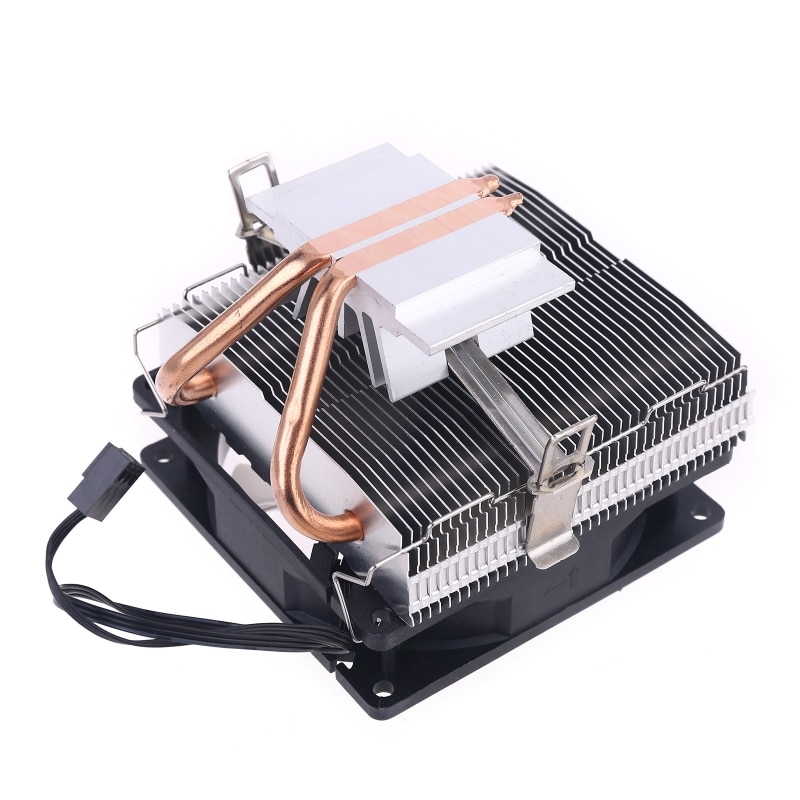 Silent CPU Cooler LGA/2011/115X/775 3 Pin PC Cooling Radiator 2 Copper Tubes LED