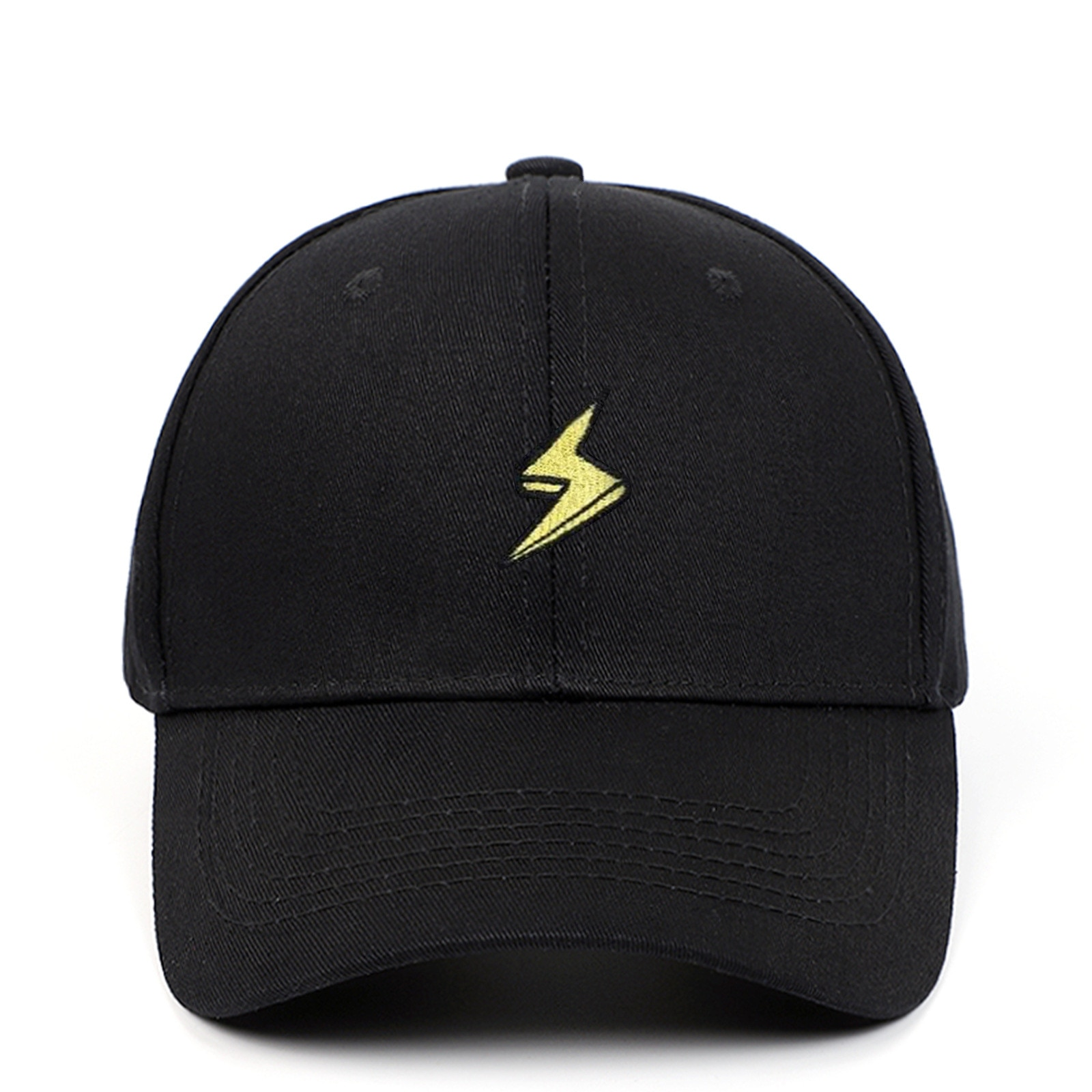 lightning baseball cap hip hop embroidered men dad hat hiphop snapack hat cotton kpop curved sunhat
