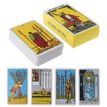 Anglais complet Rayonnante Cavalier Attendre Tarot Cartes Fabriqué en Usine De Haute Qualité Smith Tarot Cartes De Jeux