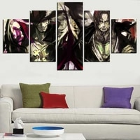 5 piece canvas wall art hd print frame anime poster pirate king character painting modular picture living room home decoration