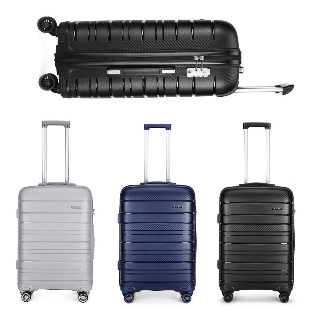 KONO 20/24/28 Zoll Luggag Multi Textur Hard Shell PP Koffer starke und robuste Hohe kapazität Universal-rad trolley