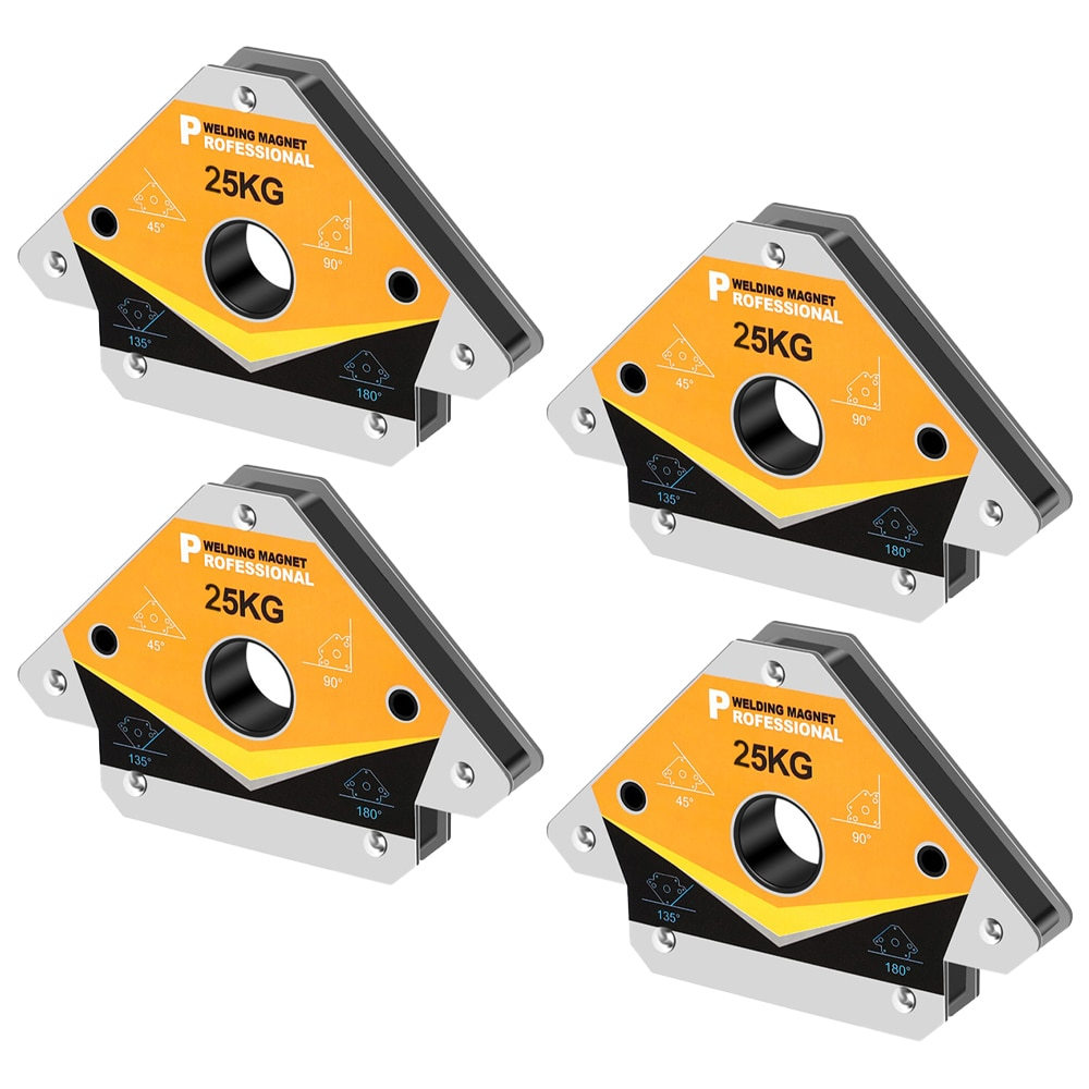 4PCS 25KG Magnetic Welding Holders Angle Soldering Positioner Fixture Ferrite Auxiliary Locator Tools 55LBS