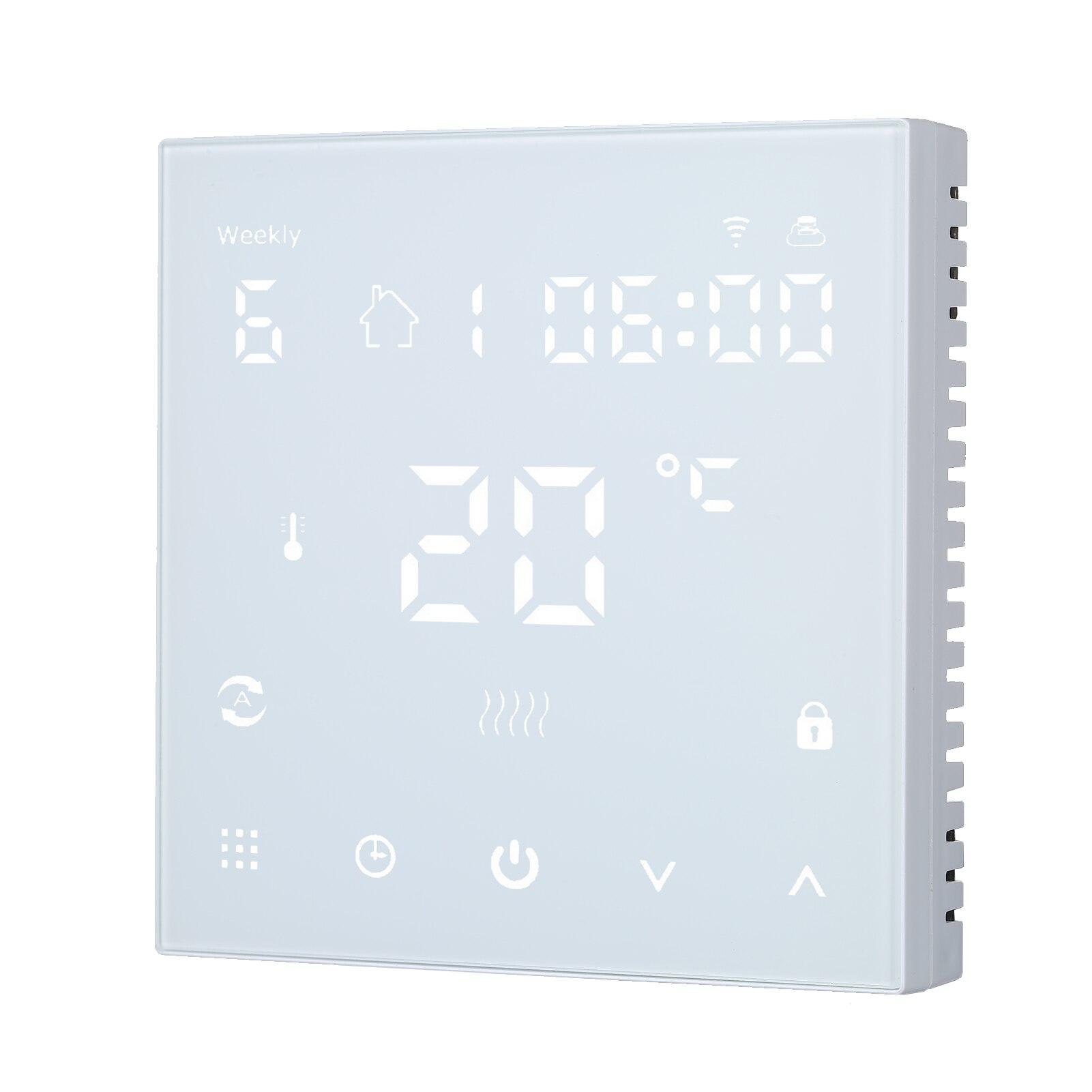 واي فاي LCD التحكم باللمس ترموستات رقمي متحكم في درجة الحرارة APP لوحة التحكم عداد توقيت قابل للبرمجة 16A للتدفئة الكهربائية