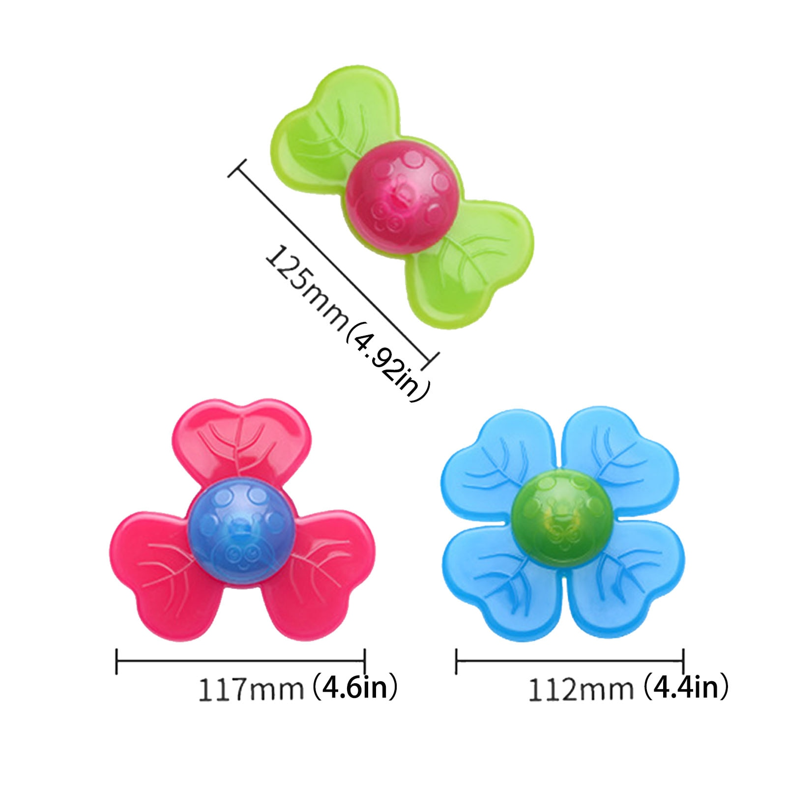 3PCS/Set Baby PP Fingers Hand Spinners Suction Cup Table Table Sucker Spinning Top Toys For Children enlarge