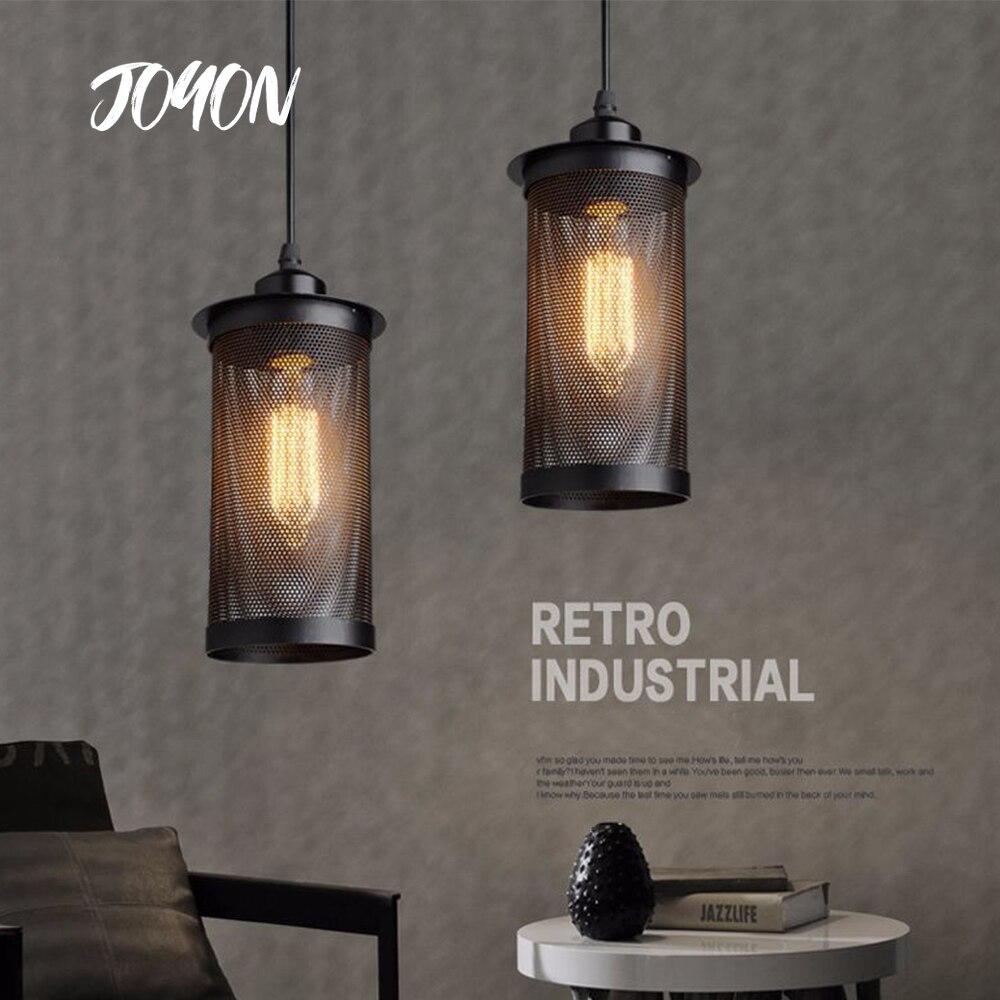 Винтажная подвесная ретро-лампа в стиле лофт, декоративный салонный светильник Эдисона E27, железная Подвесная лампа для ресторана, бара, маг...
