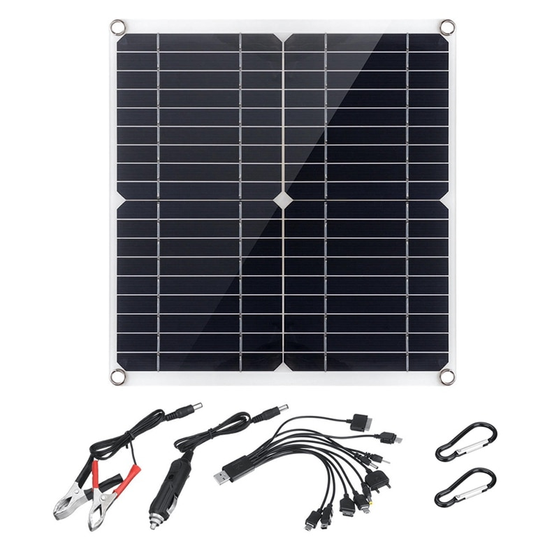 20 واط 18 فولت مرنة شاحن سيارة لوحة طاقة شمسية مزدوجة USB الناتج لوحة طاقة شمسية s سيارة وشحن شاحن الهاتف المحمول