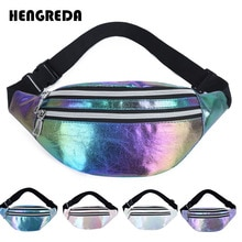 Holographic Waist Pack Fanny Hip Bum Banana Bag Laser Hologram Waistbags 2020 Traver Pouch Money Phone Holder Women Belt Bag