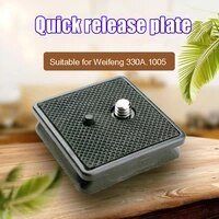quick release plate for weifeng tripod wt 330a wt 1005 camera accessories