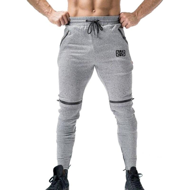 Мужские джоггеры, Осень-зима, тренировочные спортивные брюки, хлопковые мужские брюки на молнии с карманами, плиссированные повседневные б...