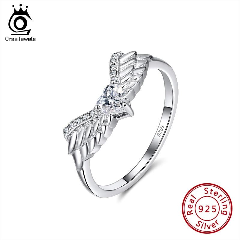 Anillo ORSA JEWELS diseño único Neo gótico Animal águila pájaro puro 925 Plata mujeres hombres vikingo Punk Vintage joyería OSR226