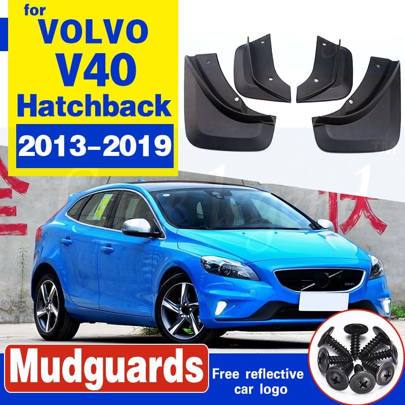 For VOLVO V40 Hatchback 2013-2019 2014 2015 2016 Set Molded Car Mud Flaps Mudflaps Splash Guards Mud Flap Mudguards Fender