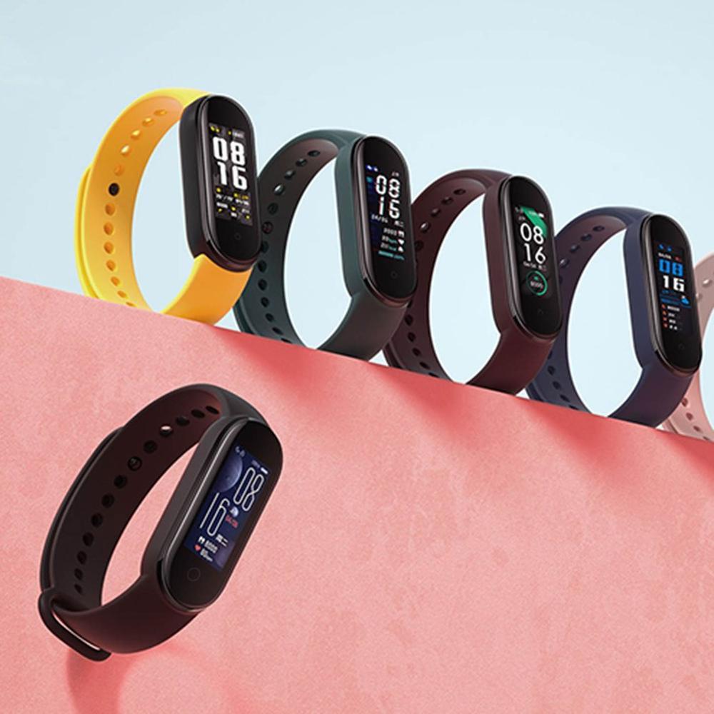 2020 NEW Xiaomi mi band 5 Wristband Fully upgraded Bigger AMOLED Screen Sport Waterproof Heart Rate Fitness Tracker