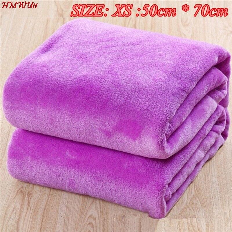 1 шт. 50 см * 70 см, мягкие, теплые, однотонные теплые микро плюшевые Флисовое одеяло пледы ковры Диван Постельные принадлежности Ванная комната...