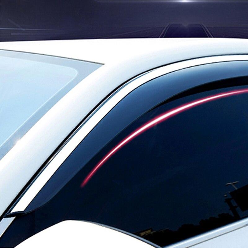 Para kia kx5 novo sportage 2016-2018 viseira da janela do defletor de vento do carro 304 aço, acessórios do carro sol viseira ventilação sombra guarda tempo