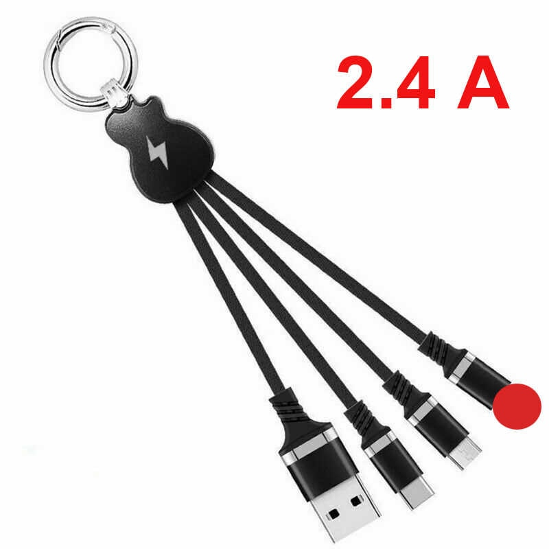 3 In 1 Retractable USB Cable For IPhone Xs Max XR Xs Fast Charging USB Type C For Samsung S8 S9Plus