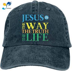 Denim Cap Jesus The Way The Truth The Life Baseball Dad Cap Adjustable Classic Sports for Men Women Hat