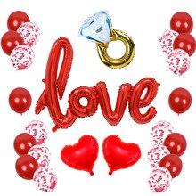 26 pièces/ensemble romantique Saint Valentin ballons fête de mariage je taime ballon Saint Valentin décoration fournitures