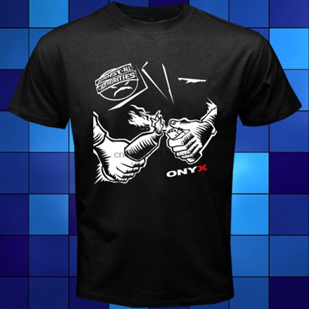 Nueva camiseta negra de Hip Hop de ONYX Against All Authorities, tallas S, M, L, XL, 2XL, 3XL